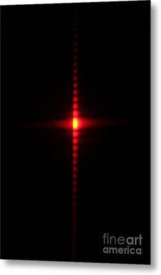 Single Slit Diffraction Metal Print by Ted Kinsman