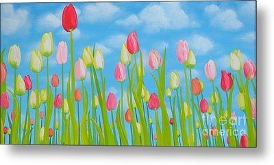 Spring Festival Metal Print by Holly Donohoe