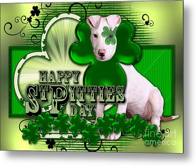 St Patricks - Happy St Pitties Day Metal Print by Renae Laughner