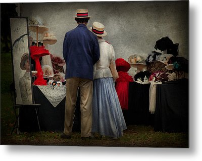 Store - The Hat Stand  Metal Print by Mike Savad