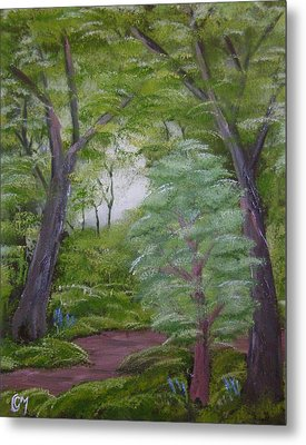 Metal Print featuring the painting Summer Morning by Charles and Melisa Morrison