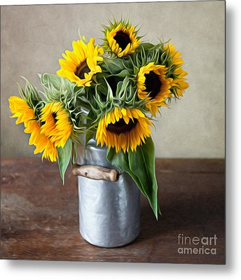 Sunflowers Metal Print by Nailia Schwarz