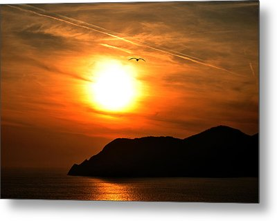 Sunset In The Village Corniglia Metal Print by Neha Singh
