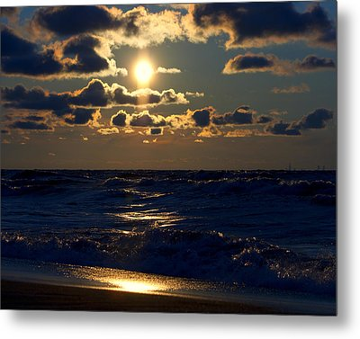 Sunset Over The City Metal Print