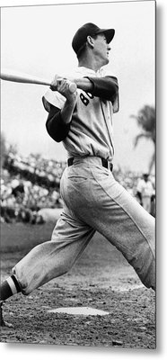 Ted Williams Of The Boston Red Sox, Ca Metal Print by Everett
