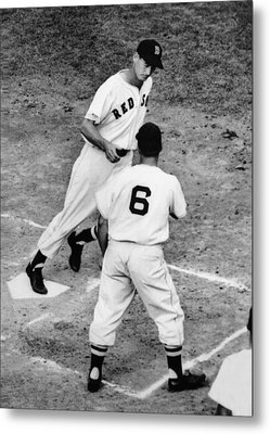 Ted Williams Of The Boston Red Sox Metal Print by Everett