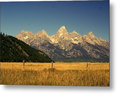 Metal Print featuring the photograph Tetons 3 by Marty Koch