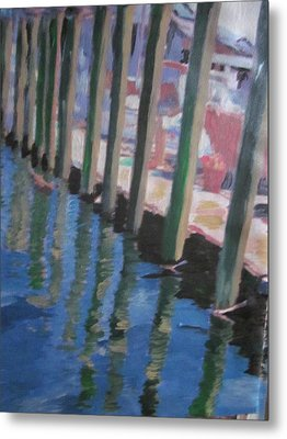 The Dock Metal Print by David Poyant