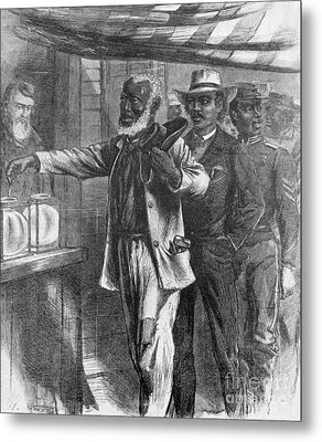 The First Vote, 1867 Metal Print