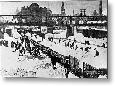 The Great Blizzard, Nyc, 1888 Metal Print by Science Source
