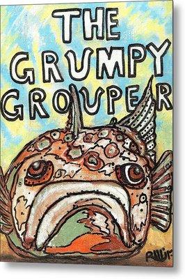 The Grumpy Grouper Metal Print by Robert Wolverton Jr
