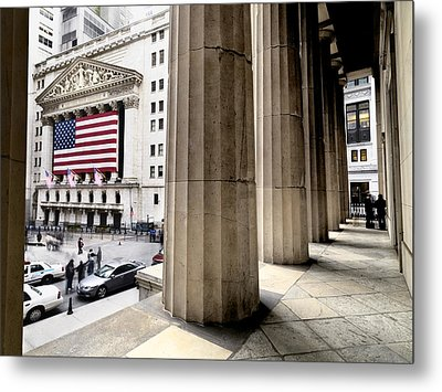 Wall Street And The New York Stock Metal Print by Justin Guariglia
