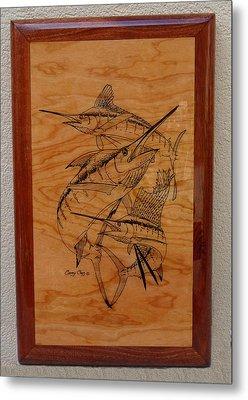 Wood Work Furniture Metal Print by Carey Chen