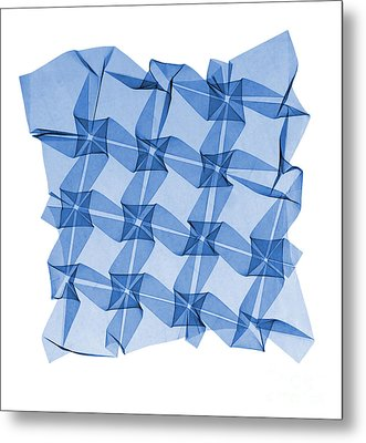 X-ray Of Mathematical Origami Metal Print by Ted Kinsman