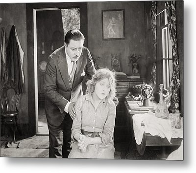 Silent Still: Man & Woman Metal Print by Granger