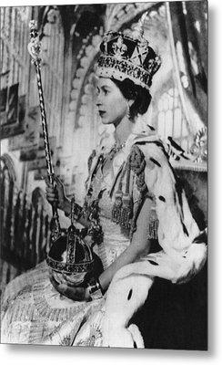 British Royalty. Queen Elizabeth II Metal Print