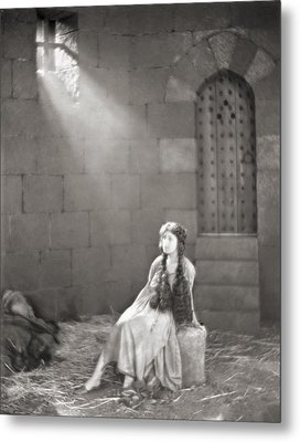 Silent Film Still: Woman Metal Print by Granger