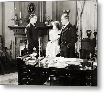 Silent Film Still: Offices Metal Print by Granger