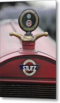 1916 Stutz Series B Bearcat Hood Ornament Metal Print by Jill Reger