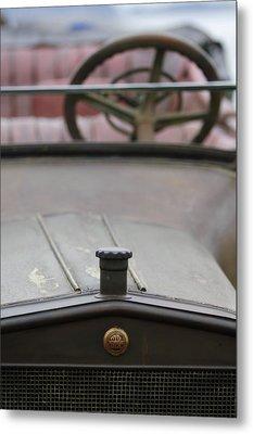 1916 Winton Model 33 Touring Hood Ornament Metal Print by Jill Reger
