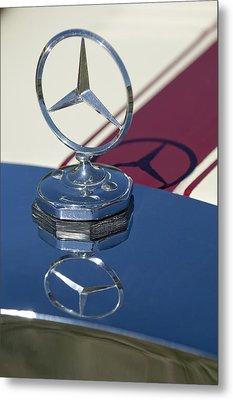 1929 Mercedes-benz Gazelle Touring Hood Ornament Metal Print by Jill Reger