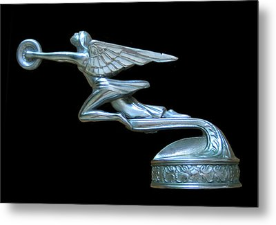 1929 Packard Goddess Of Speed Metal Print by Jack Pumphrey