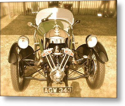 Metal Print featuring the photograph 1930s Three Wheel Morgan by John Colley