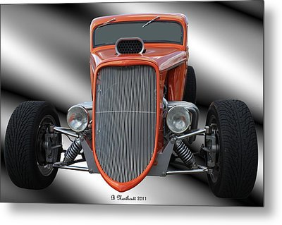 1933 Ford Roadster - Hotrod Version Of Scream Metal Print