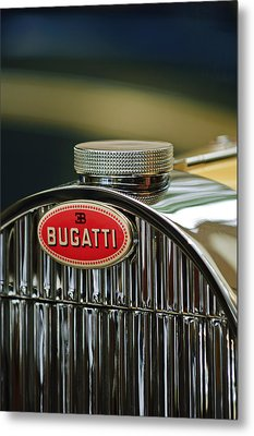 1935 Bugatti Type 57 Grand Raid Roadster Emblem Metal Print by Jill Reger