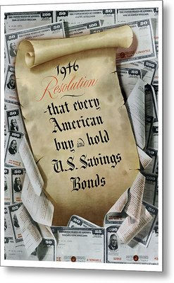 1946 Resolution  Metal Print by War Is Hell Store