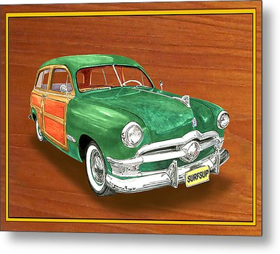 1950 Ford Country Squire Woody Metal Print by Jack Pumphrey