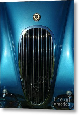 1953 Jaguar 120m Grill Metal Print by Peter Piatt