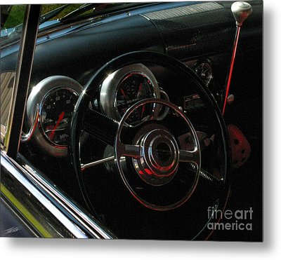 1953 Mercury Monterey Dash Metal Print by Peter Piatt
