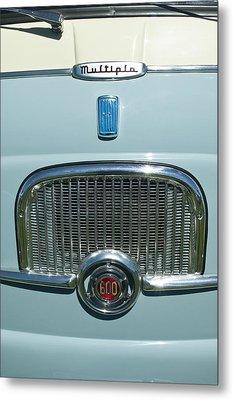 1959 Fiat Multipia Hood Emblem Metal Print by Jill Reger