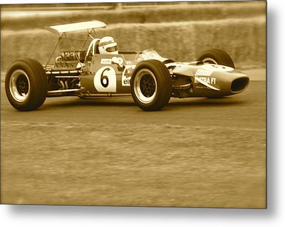 Metal Print featuring the photograph 1960s Matra F1 by John Colley