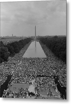 1963 March On Washington. A View Metal Print by Everett