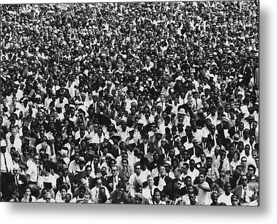 1963 March On Washington. Crowd Metal Print by Everett