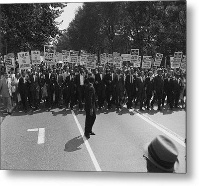 1963 March On Washington. Famous Civil Metal Print by Everett