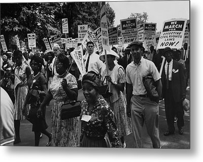 1963 March On Washington. Marchers Metal Print