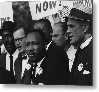 1963 March On Washington. Martin Luther Metal Print by Everett