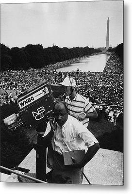 1963 March On Washington. Nbc Metal Print by Everett