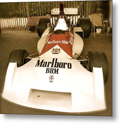 Metal Print featuring the photograph 1971 Brm P160 Formula 1 Grand Prix Car by John Colley
