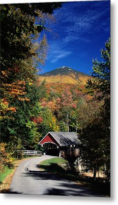 A Covered Bridge Metal Print by Richard Nowitz