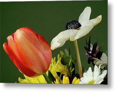 Bouquet Of Flowers Metal Print by Sami Sarkis