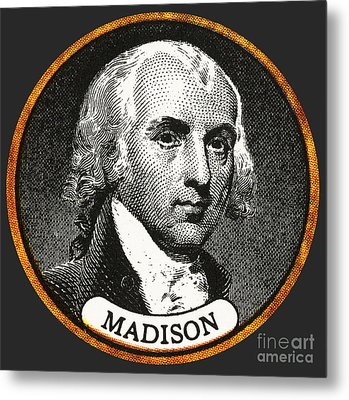 James Madison, 4th American President Metal Print by Photo Researchers