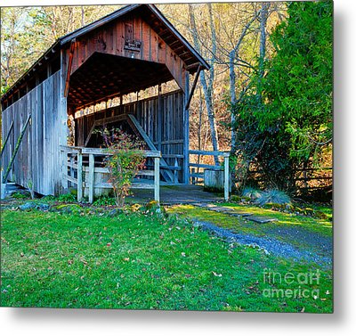 Lost Creek Bridge Metal Print by Jim Adams