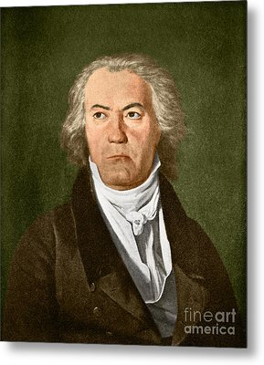 Ludwig Van Beethoven, German Composer Metal Print by Omikron