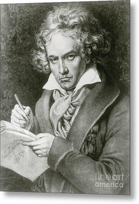 Ludwig Van Beethoven, German Composer Metal Print by Photo Researchers