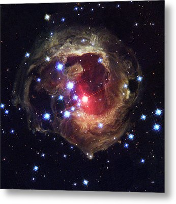 Radiation From A Stellar Burst Metal Print by ESA and nASA