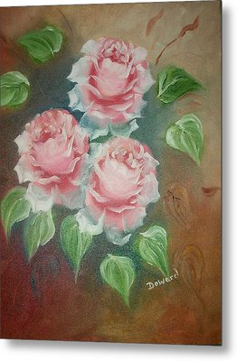 Red Roses Metal Print by Raymond Doward